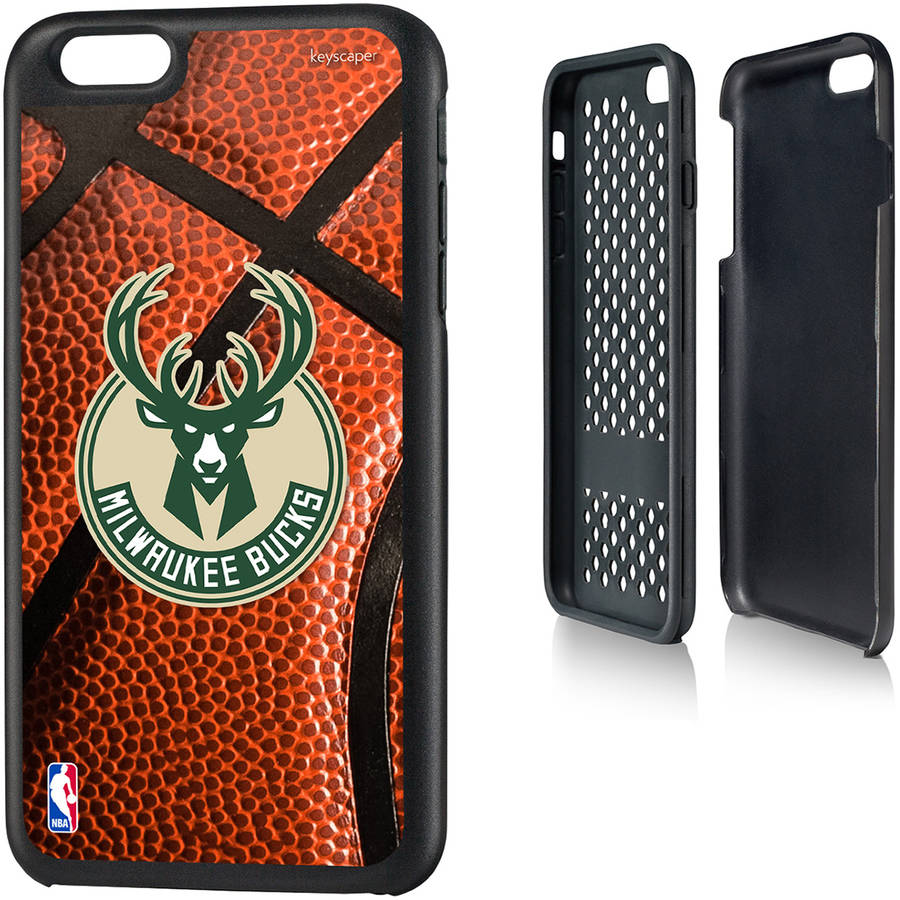 Milwaukee Bucks Basketball Design Apple iPhone 6 Plus Rugged Case by Keyscaper