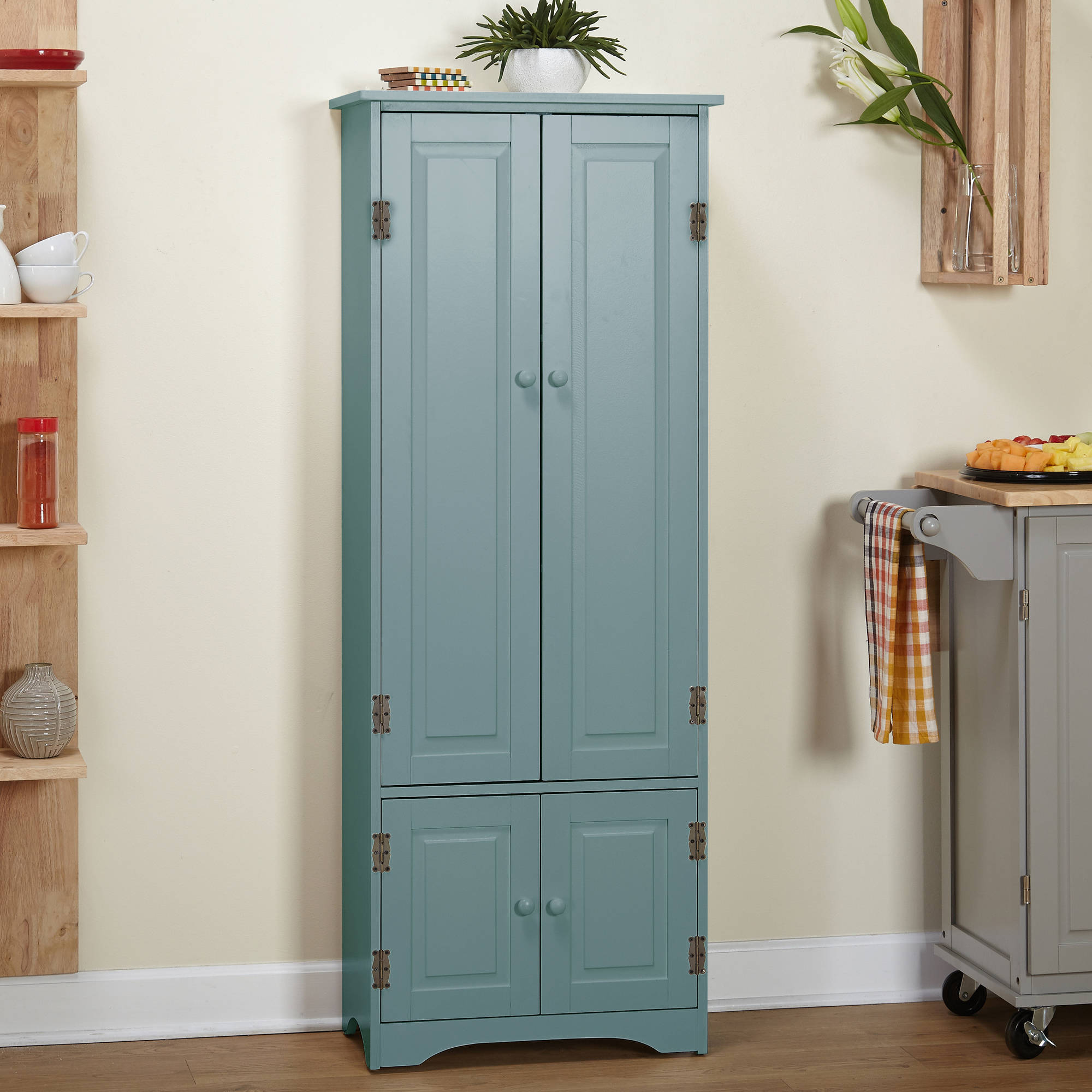 extra tall kitchen cabinets cabinet blue walmart 7118