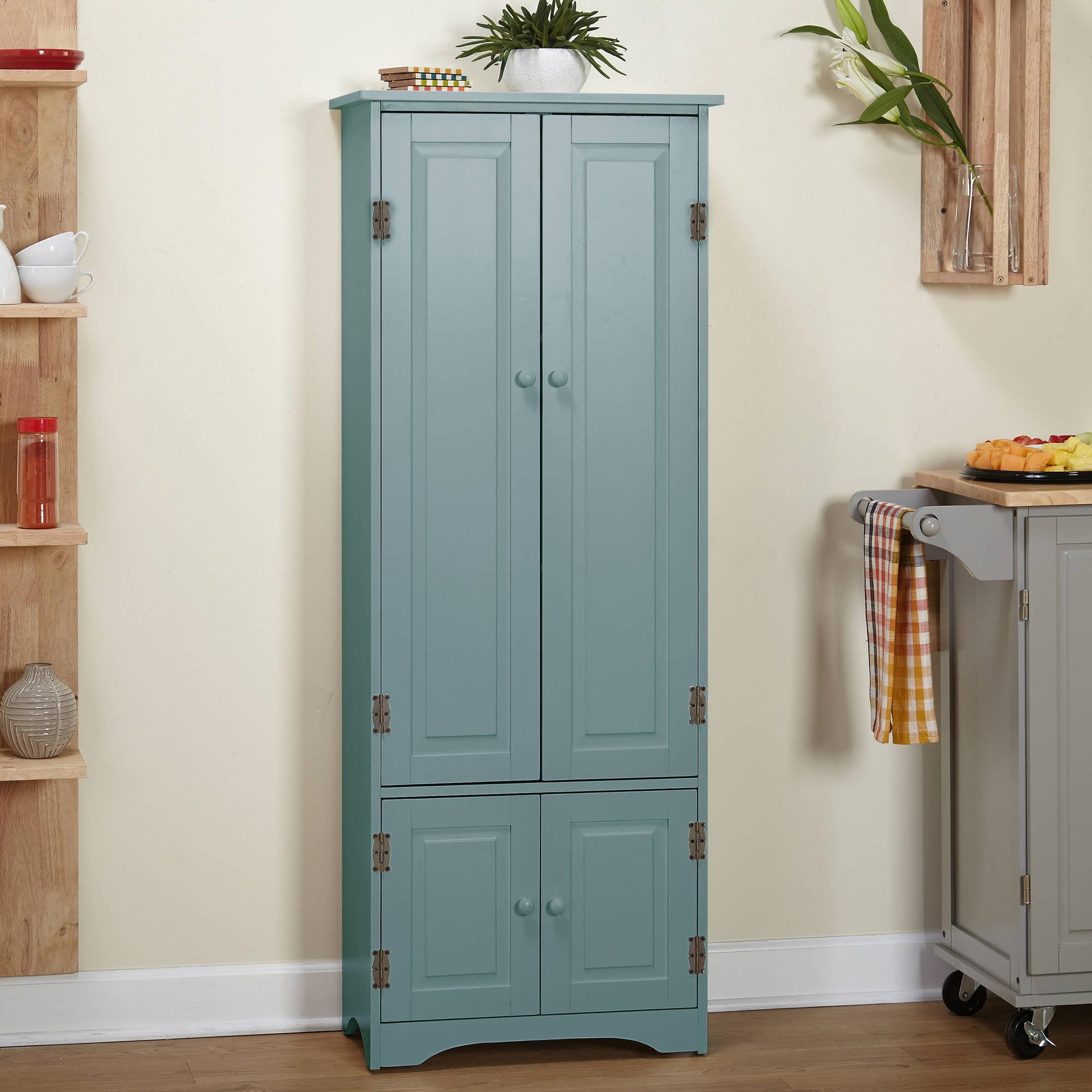 Versatile Wood 4-Door Floor Cabinet, White
