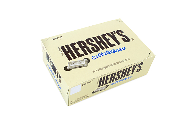 HERSHEY'S Cookies 'n' Creme Candy Bars, 1.55 oz, 36 Count
