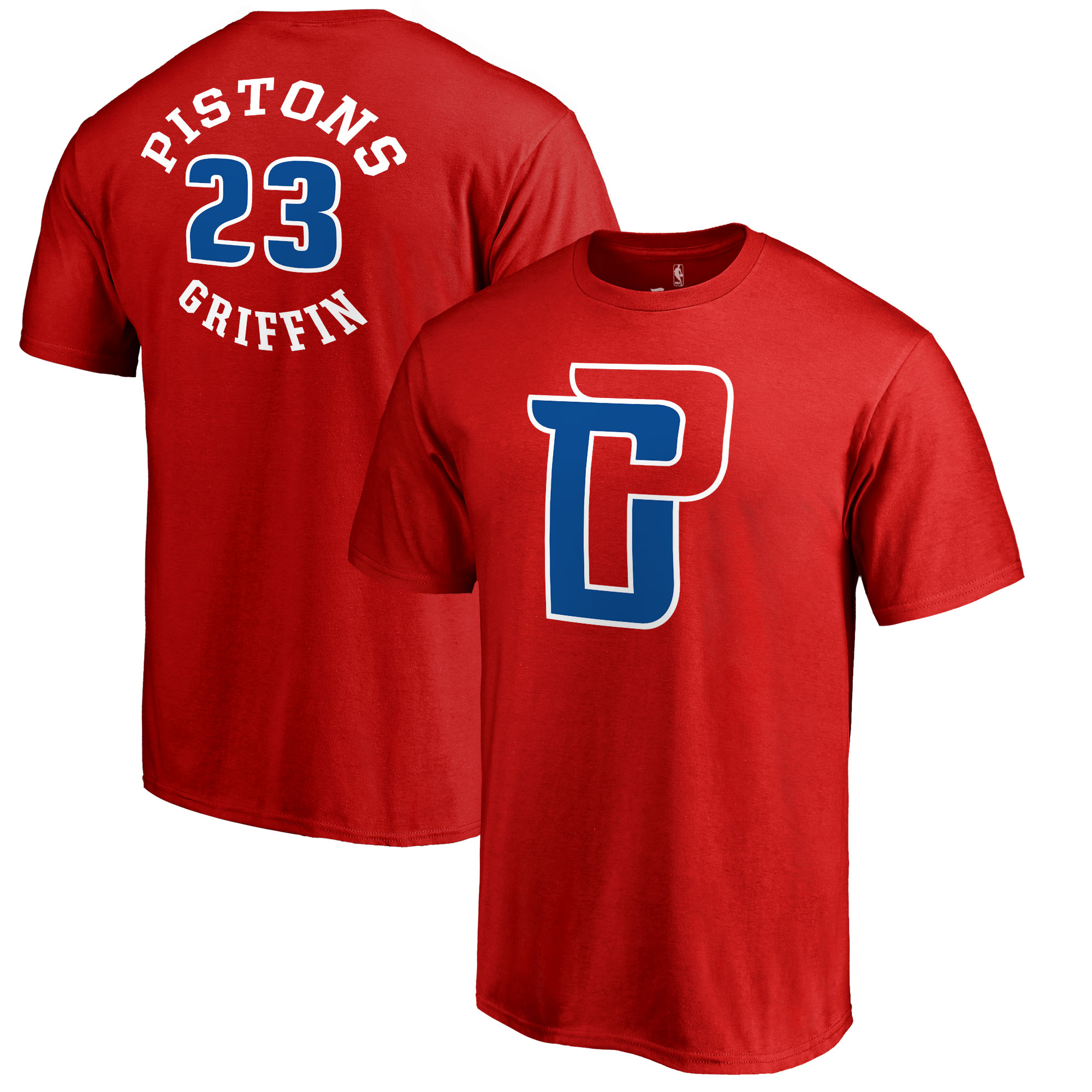 Blake Griffin Detroit Pistons Fanatics Branded Round About Name & Number T-Shirt - Red
