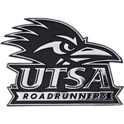 UTSA Roadrunners Premium Solid Metal Chrome Plated Car Auto Emblem
