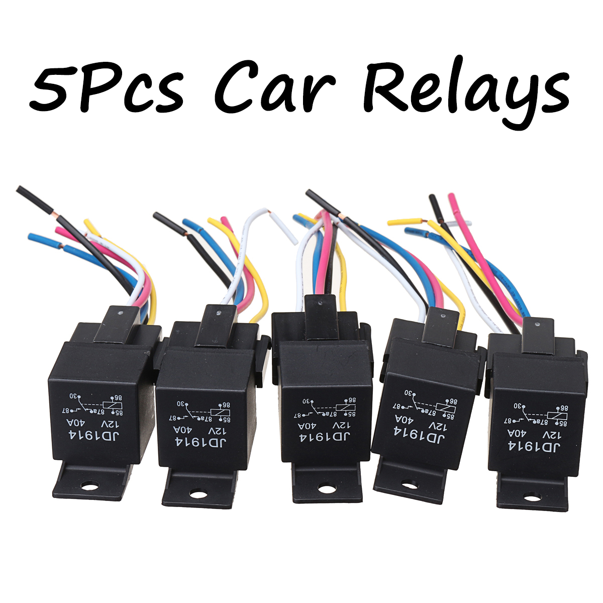 Relays  U0026 Sensors 5pcs Dc 12v Car Spdt Automotive Relay 5