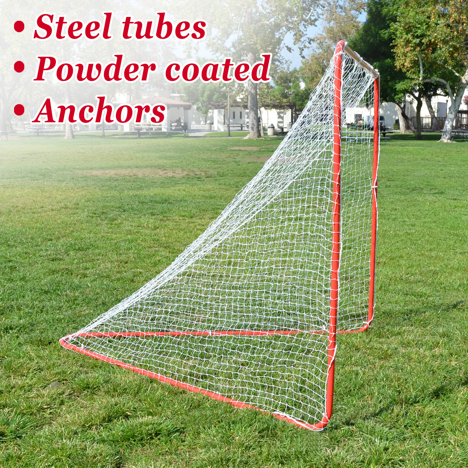 Strong Camel New Portable Lacrosse Practice Net 6' X 6' X 7' Quick Set Up Lacrosse Goal by Sunny Outdoor Inc