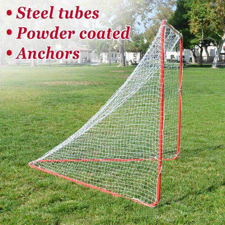 Strong Camel NEW Portable Lacrosse Practice Net 6' X 6' X 7' Quick Set Up Lacrosse Goal - Halloween Lacrosse Practice
