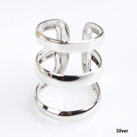 KABOER 4 pcs Ear Cuff Earrings Ear Clip Non-Piercing Clip On Earrings for Men and Women ()