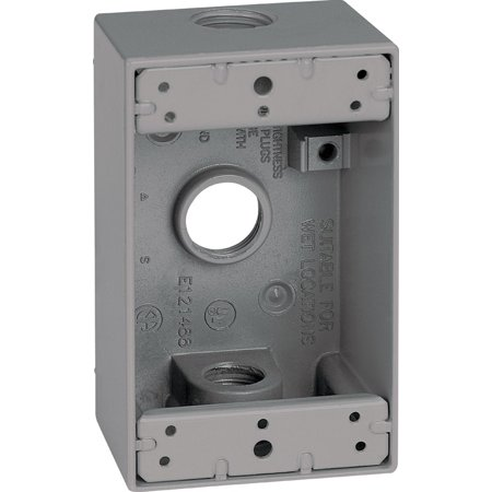 Sigma Electric  4-1/2 in. Rectangle  Metallic  1 gang Weatherproof Box  - 1g Outlet Box