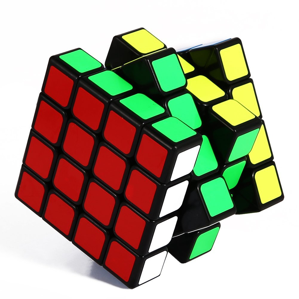Speed Rubik Cube, Black Base Magic Rubik 6 color Puzzles Educational Special Toys Brain Teaser Gift Box, 4x4 Stickerless Develop Brain And Logic Thinking Ability Best Gift
