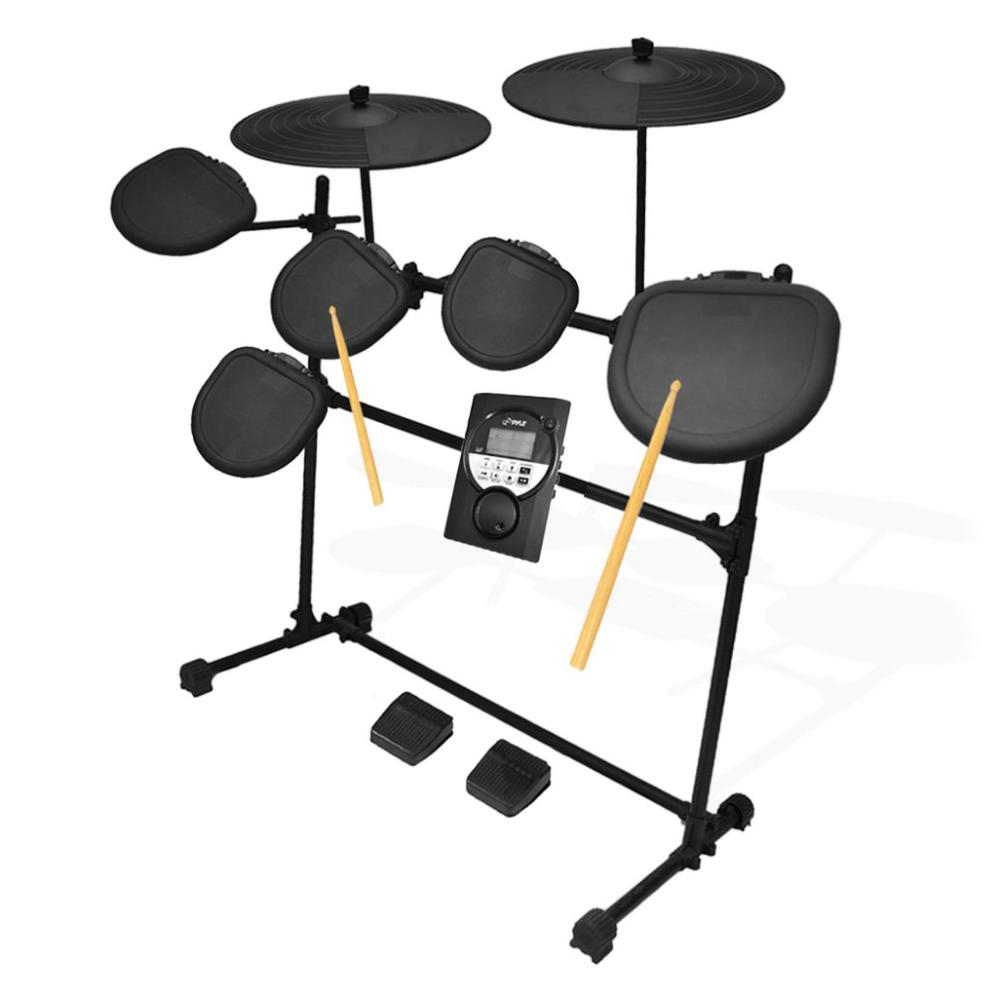 Pyle PED021M - Digital Drum Set, Electronic Drum Machine System (7-Pad Drum Kit)