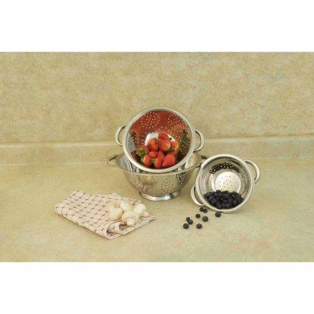 Cook Pro 3pc Stainless Steel Colander Set, 1qt, 2.5qt, 4qt