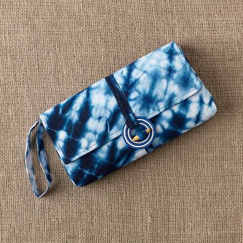 African Patterned Wristlet Purse by Gahaya Links for Full Circle Exchange