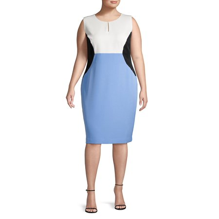 Plus Colorblock Sleeveless Sheath Dress](Lord And Taylor Dresses Clearance)