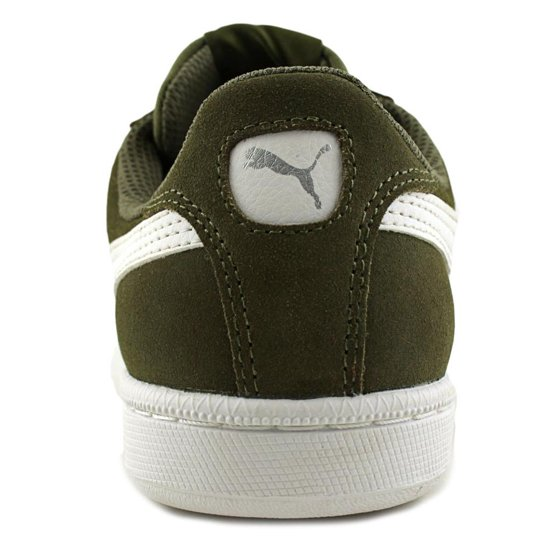 Shop Puma Puma Smash SD Men Round Toe Suede Green Sneakers