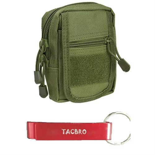 TACBRO Small Utility Pouch - Green with One Free TACBRO Aluminum Opener(Randomly Selected Color)