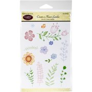 Justrite Papercraft  Clear Stamps 4X6-Create A Flower Garden
