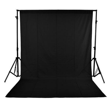 Andoer- 1.6 x 3M / 5 x 10FT Photography Studio Non-woven Backdrop / Background Screen 3 Colors for Option Black White Green
