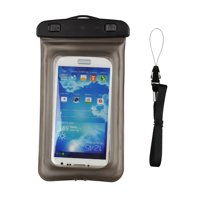 "Waterproof Case Smartphone Dry Pouch (Gray) w/ Neck Lanyard - Compatible w/ iPhone XR/XS/XS Max/X/8+ Galaxy S10+/S9+ Note 9/8 Pixel 3 XL Phones up to 6.5"" Great for Swim Pool Beach Bath Travel"