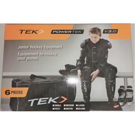 PowerTek V3.0 6-Piece JUNIOR Ice Hockey Equipment Pads, Starter Set