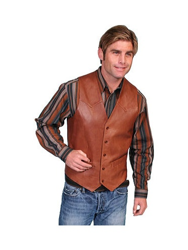 Men's Scully Lambskin Button Front Vest 503