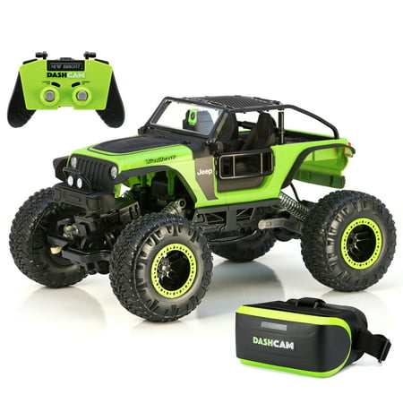 New Bright Rc 1 14 Scale Vr Dash Cam Rock Crawler Jeep Trailcat