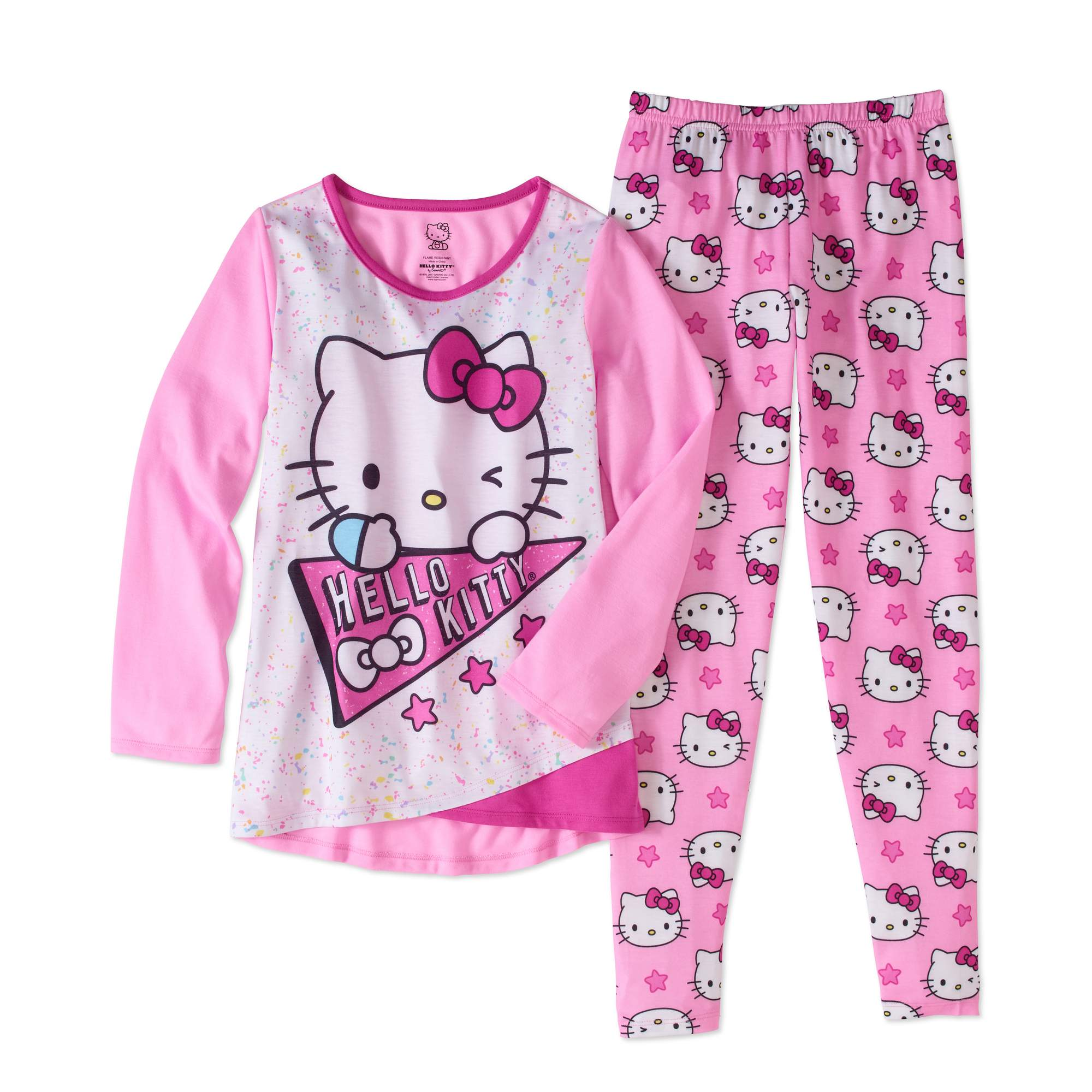 Hello Kitty Big Girls' Legging Sleepwear Set