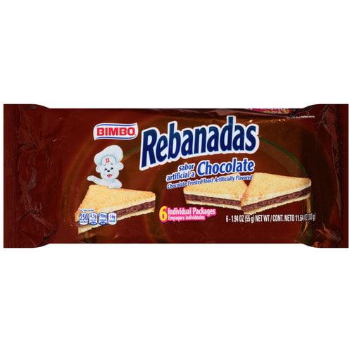 Bimbo Rebanadas Chocolate Frosted Toast, 1.94oz, 6ct