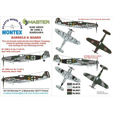 Montex KAM 1:48 Me-109 K-4 #1 for Hasegawa Mask +Metal Part #KAM48023