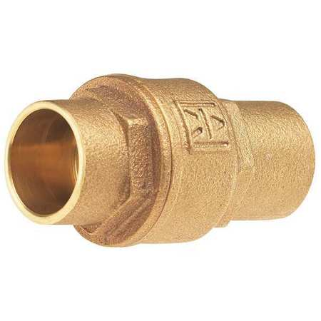 MILWAUKEE VALVE Low Lead Spring Check Valve,Bronze,1-1/4 UP1548T 1 1/4