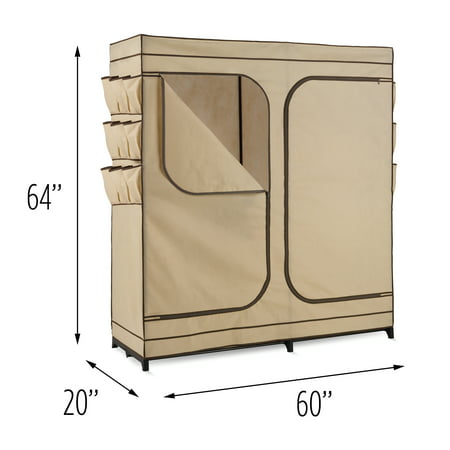 Honey Can Do Wardrobe Storage Closet, Khaki