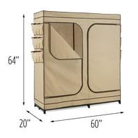 Product Image Honey Can Do Wardrobe Storage Closet Khaki