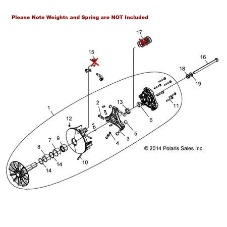 1323130 Polaris Drive Clutch for 2015-2019 Ranger 900, RGR