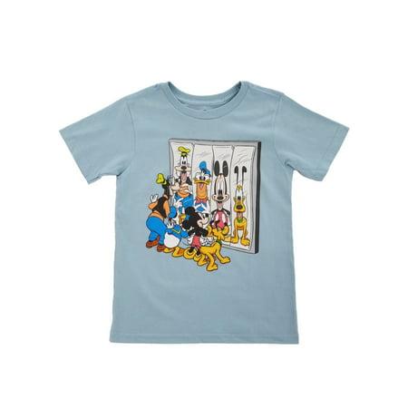 Disney Little Boys Blue Fun House Mirror Mickey Donald Goofy Pluto (Mickey Donald And Goofy In The Little Mermaid)