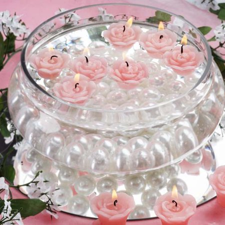 Efavormart Set of 12 Mini Floating Rose Candle Ideal for Aromatherapy Weddings Party Favors Home Decoration Supplies - Simple Wedding Decorations