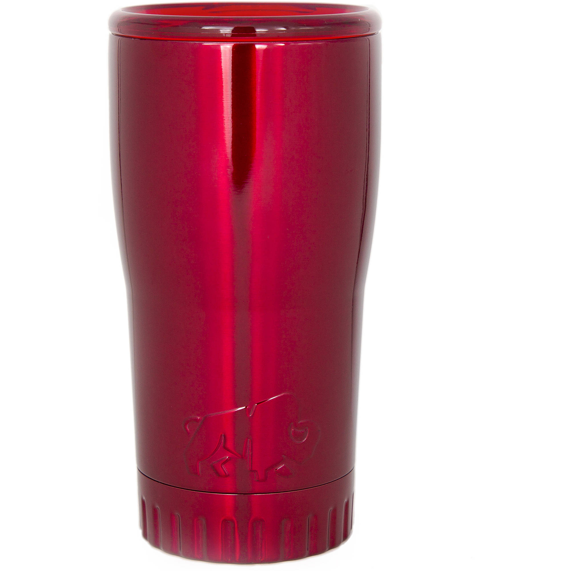 Silver Buffalo Stainless Steel Insulated Tumbler, 20 oz., Red