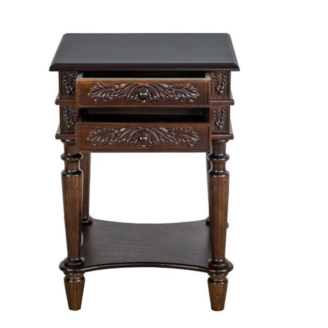 Carved 2 Drawer Nesting Telephone Table
