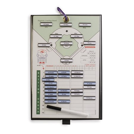 Coacher Magnetic Baseball Line-Up Board, Coacher Magnetic Baseball Players line-up board is 8-1/2 x 14. By Athletic
