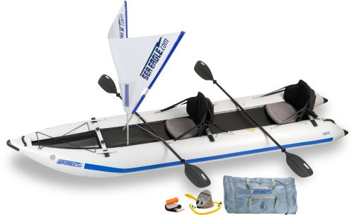 Sea Eagle 435ps PaddleSki Inflatable Catamaran Kayak QuikSail Package by Sea Eagle Boats, Inc.