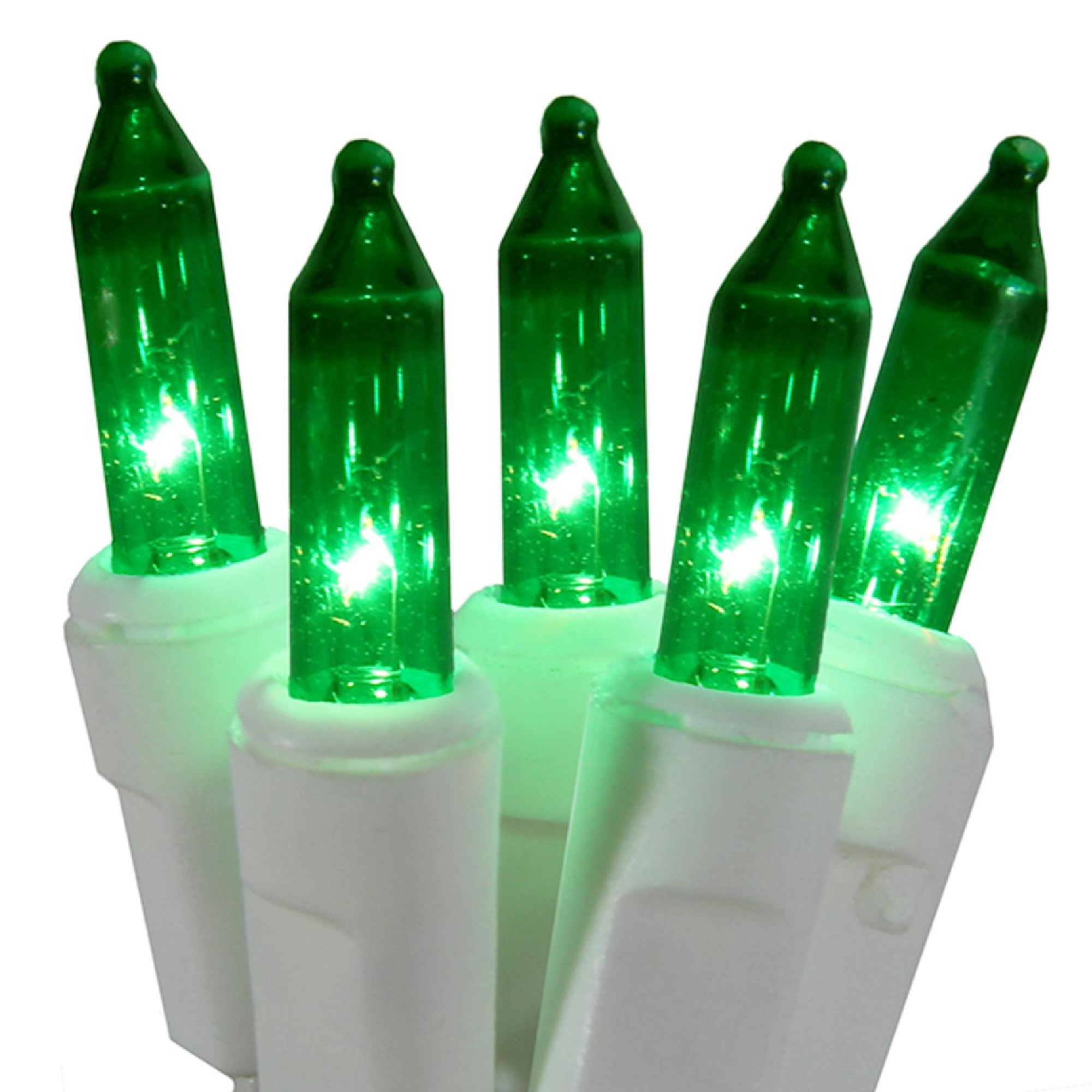 Northlight 100ct Mini Super Bright String Lights Green - 25' White Wire