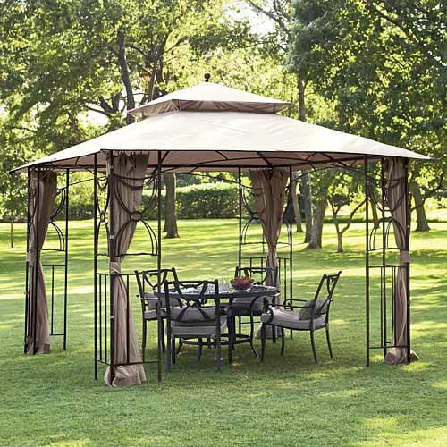 Garden Winds Replacement Canopy Top for Colonial Estates/Mika Ridge/River Delta Gazebo, Riplock 350