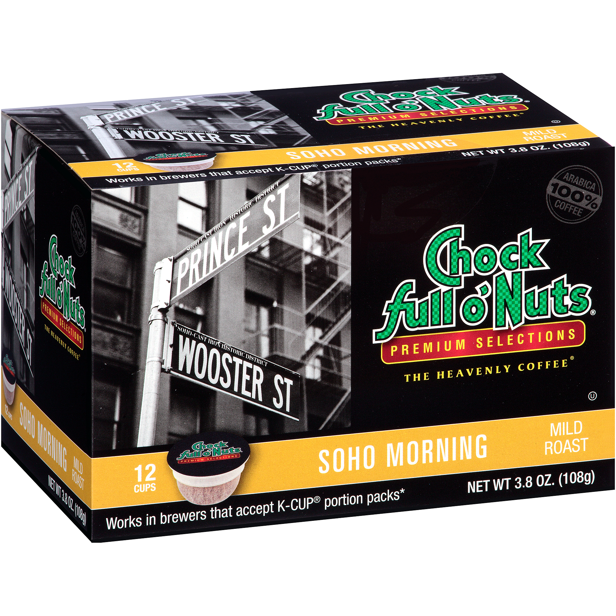Chock Full o'Nuts Soho Morning Coffee Single Serve Cups, 12 count, 3.8 oz