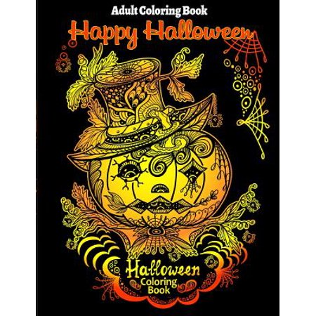 Adult Coloring Book : Halloween Coloring Book for Stress Relieve and Relaxation - Halloween Coloring Pages Cats