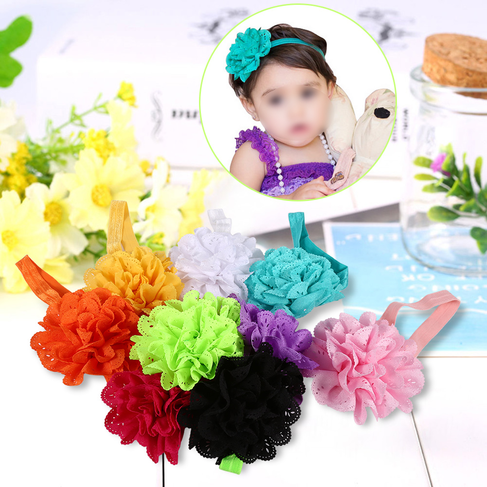 10pcs Cute Headband Hairband Flower Ears Tie Stretch Hair Accessories for Toddler Kids Baby, Stretch Knot, Hair Wrap