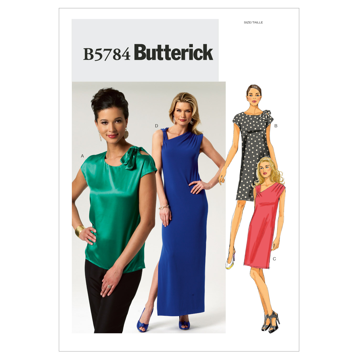 Butterick Pattern Misses' Top and Dress, Y (XS, S, M)