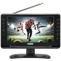 """Naxa NT-110 10"""" LCD TV - HDTV - Shiny Black"""