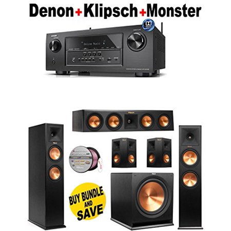 Denon-AVRS910W + 2 Klipsch-RP260FBK + Klipsch-RP440CBK + 2 Klipsch-RP250SBK + Klipsch-R115SW + Monster... by