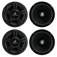 "4) New LANZAR OPTI6MI 6.5"" 2000W Car Mid bass Mid Range Audio Power Speakers"