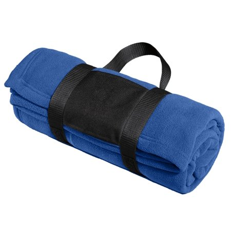 Port Authority® Fleece Blanket With Carrying Strap. Bp20 True Royal Osfa - image 1 of 1