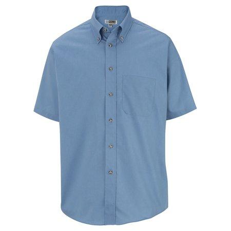 Men's Big And Tall Button Down Poplin Shirt, DENIM BLUE, XLT