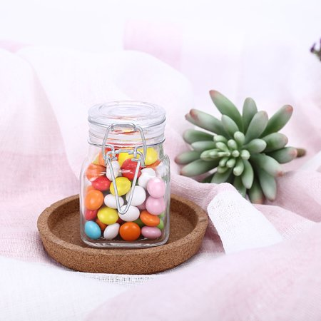 Balsacircle Clear Square 12 Pcs 4 Oz Glass Jars Wedding Party Favor