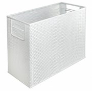 Artistic ART20010WH Urban Collection Punched Metal Desktop File, White